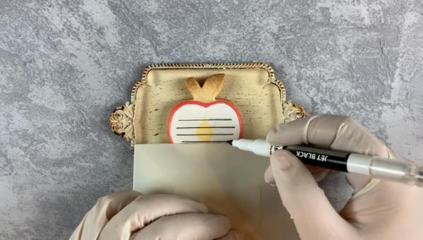 【アイシングクッキー】卒業のお祝いに!メッセージカードの作り方6