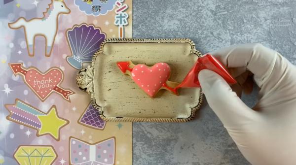 【アイシングクッキーの作り方】100均の型で作るデザイン8